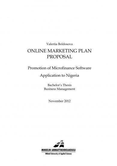 online marketing campaign proposal sample