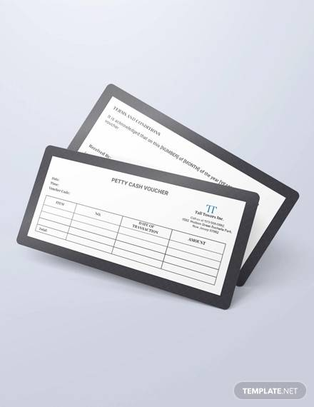 petty cash voucher template