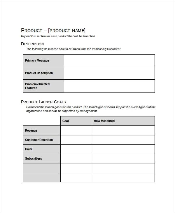 product launch marketing plan template