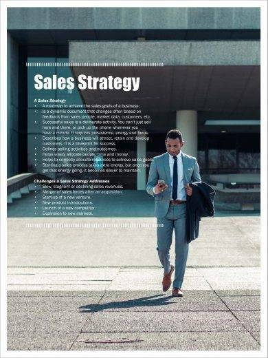 sales strategy planning sample