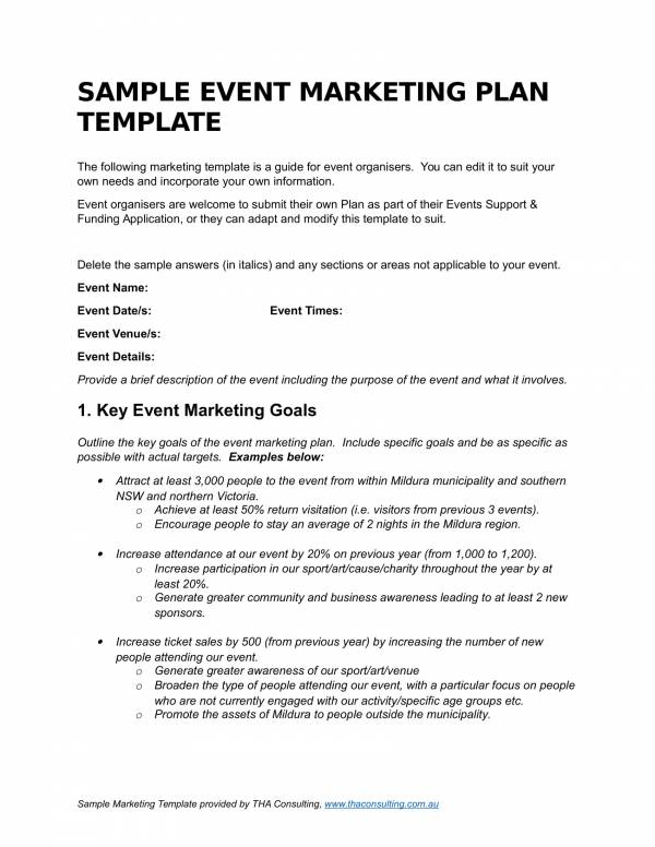 Free 14 Event Marketing Plan Templates In Pdf Ms Word