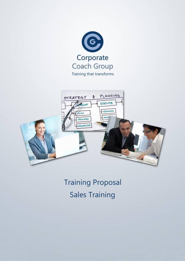 sample sales training proposal template 1