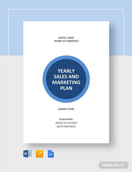 sample sales and marketing plan template