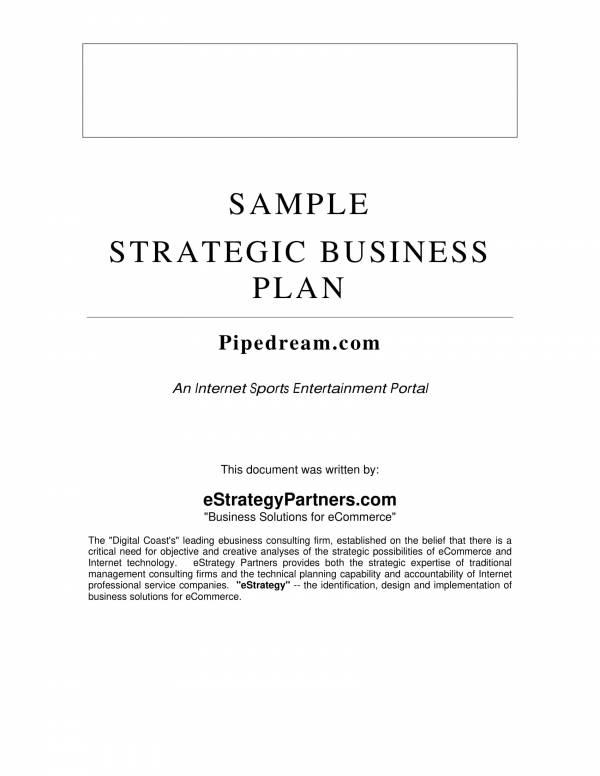 sample strategic business plan template 01