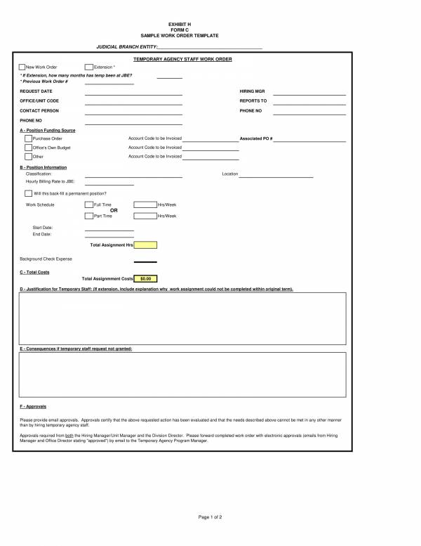 sample work order template 1