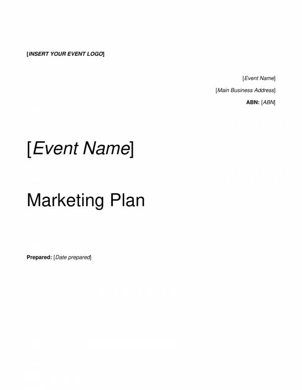 simple event marketing plan template 01