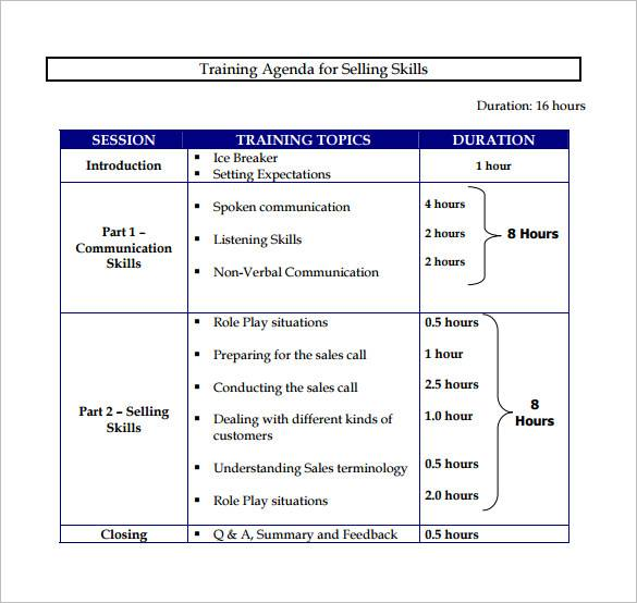simple sales training proposal template