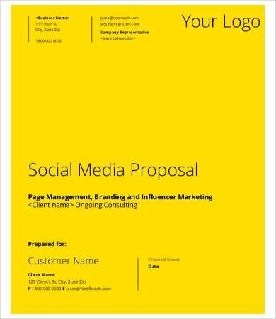 social media management proposal template