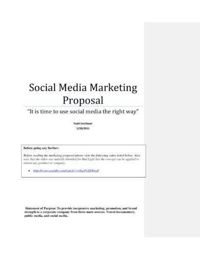 social media marketing campaign proposal template