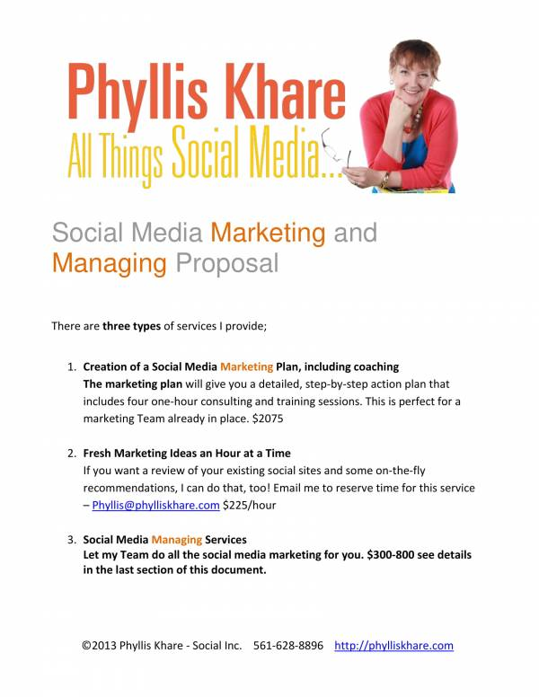 social media marketing and managing proposal template 01