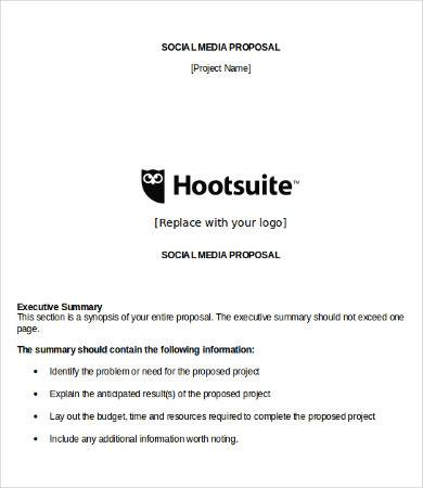 social media proposal template