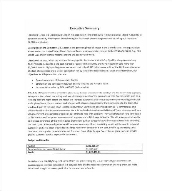 sports event marketing plan template