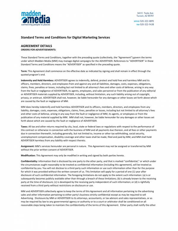 standard terms and conditions for digital marketing services 1