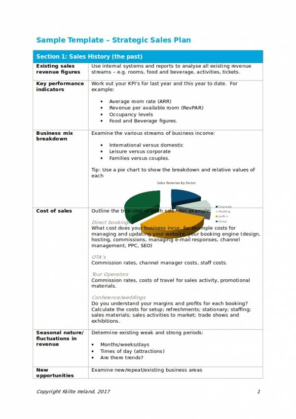 strategic sales plan sample template