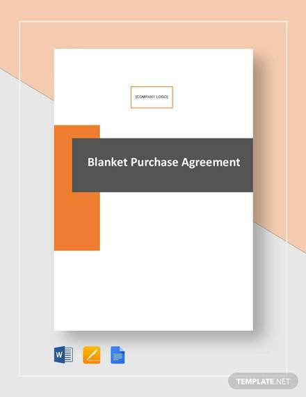 blanket purchase agreement template1