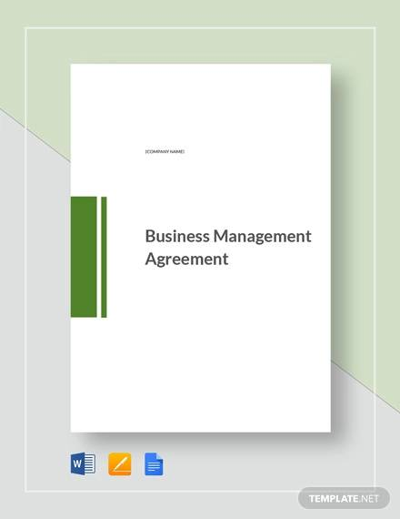 business management agreement template