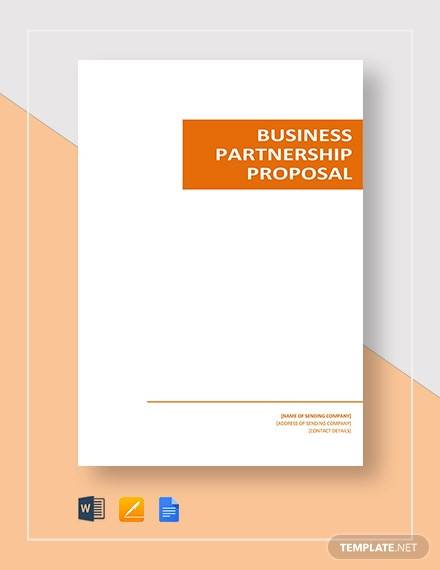business partnership proposal template2