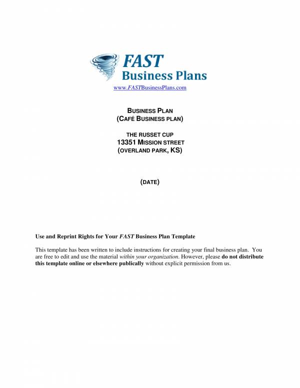 cafe business plan template 01