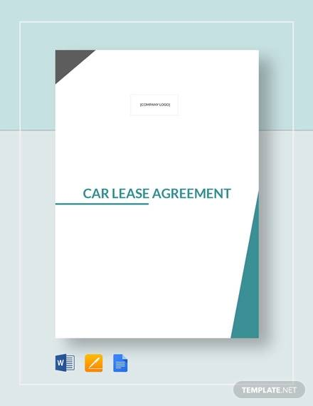 car lease agreement template1