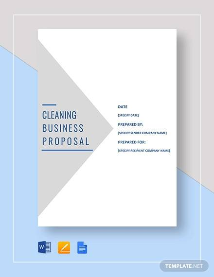 cleaning business proposal template1