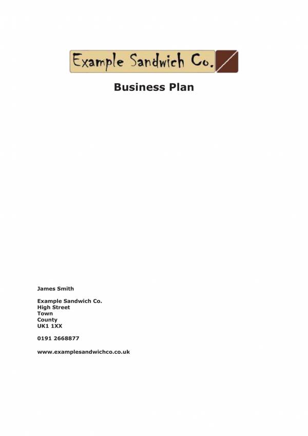 coffee and sandwhiches business plan template 01