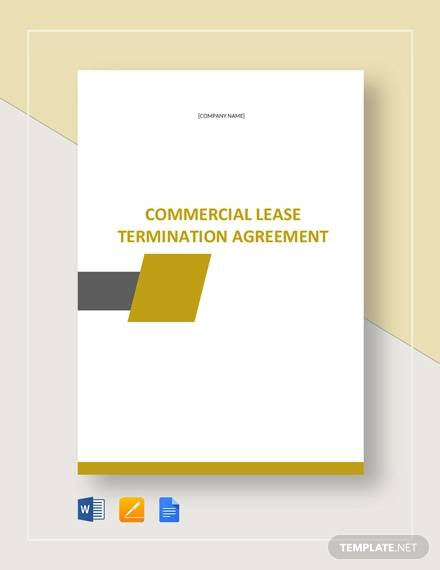 commercial lease termination agreement template1
