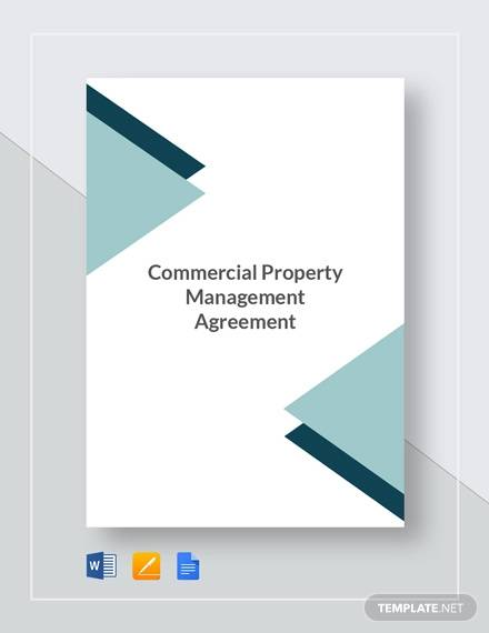 commercial property management agreement template2