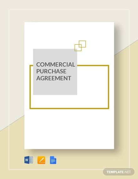 commercial purchase agreement template1