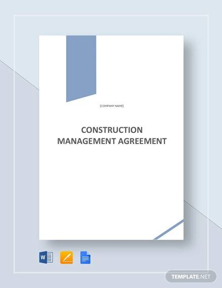 construction management agreement template1