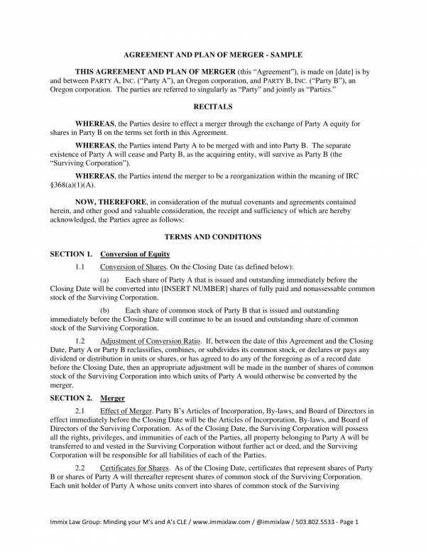 exchange of shares agreement sample template 1