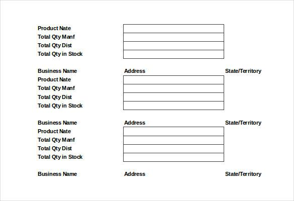 food order distribution list template