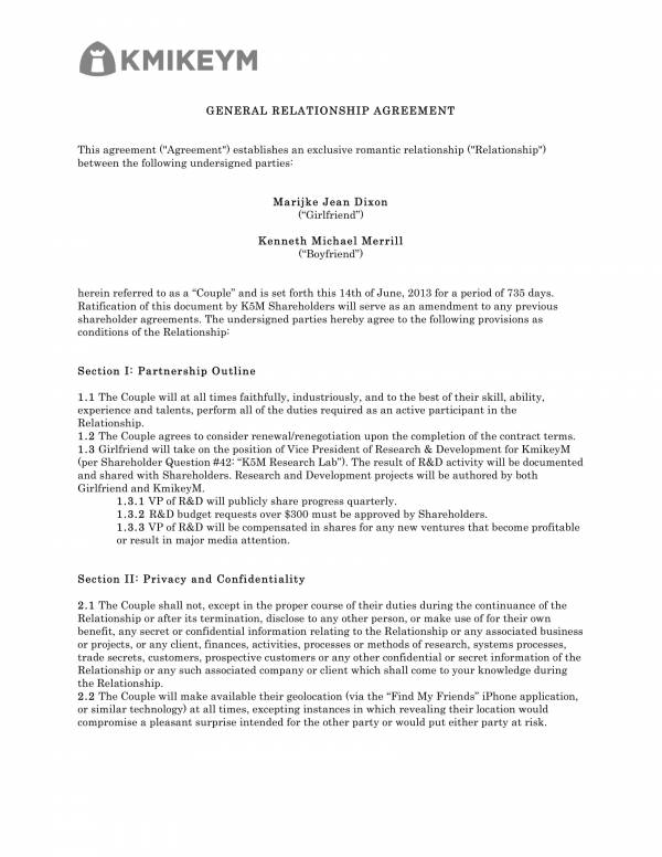 general relationship agreement template 1