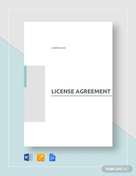 license agreement template