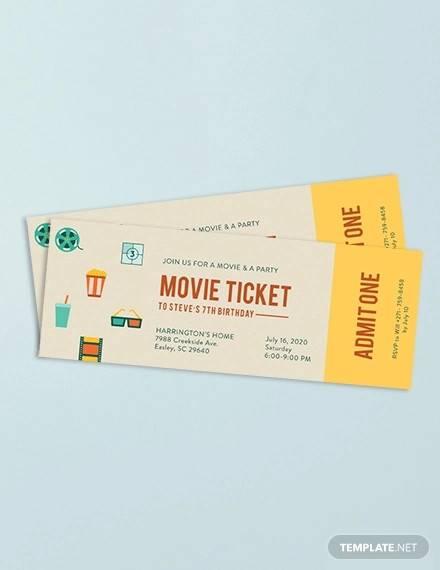 movie ticket invitation1