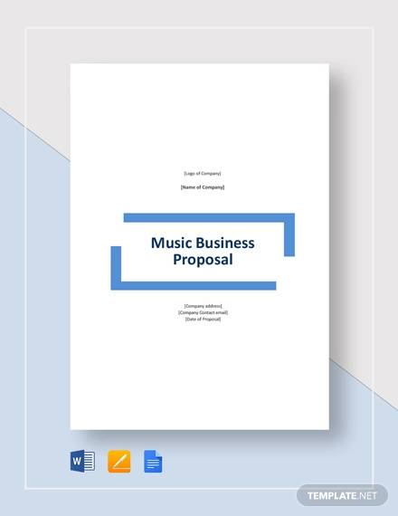 music business proposal template