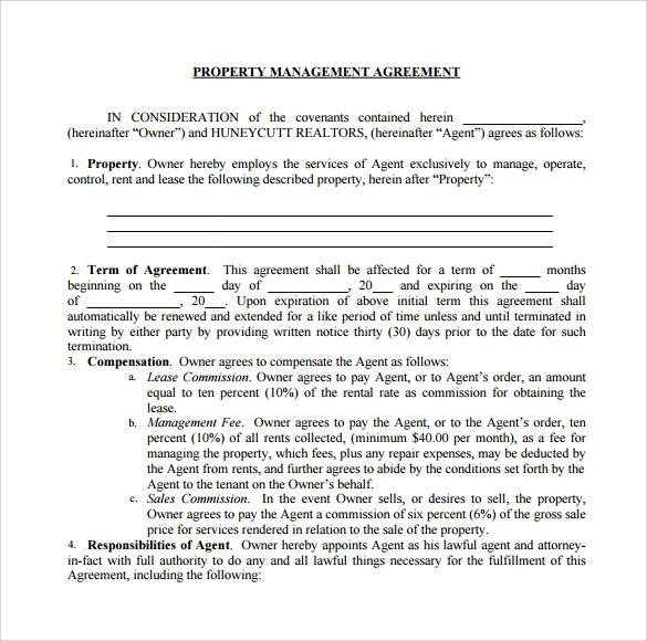 real property management agreement