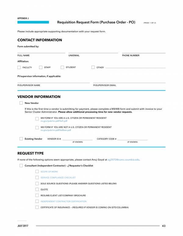 requisition request form 1