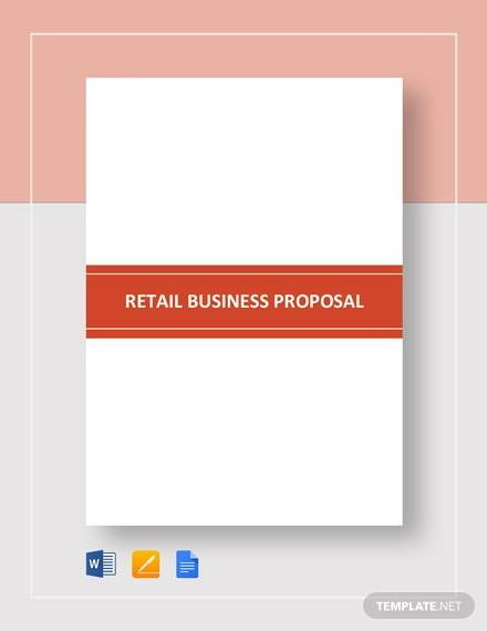 retail business proposal template