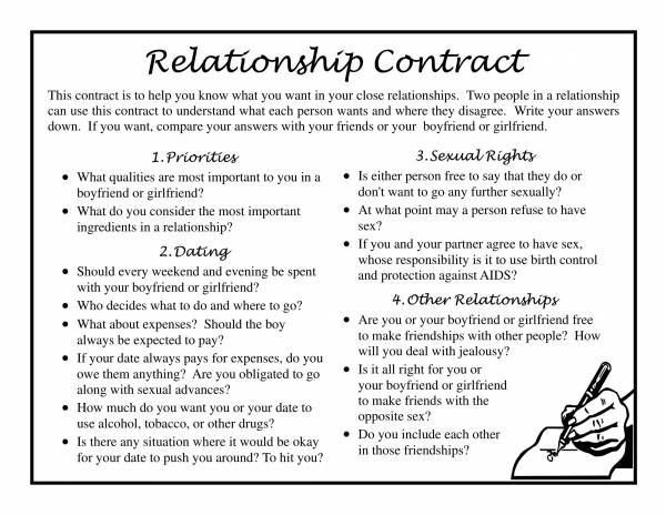 simple relationship agreement contract template 1