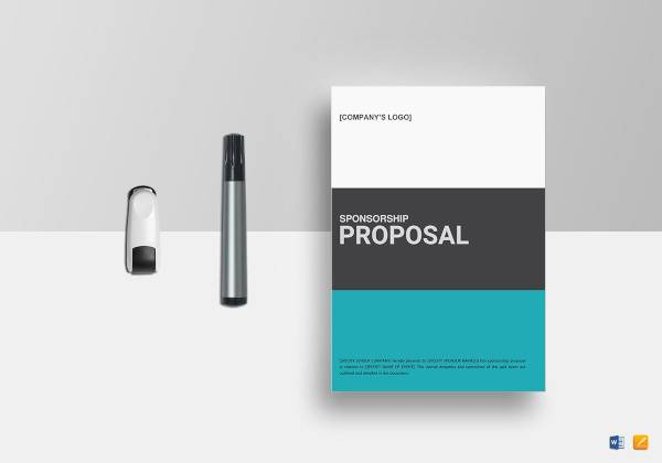 simple sponsorship proposal template