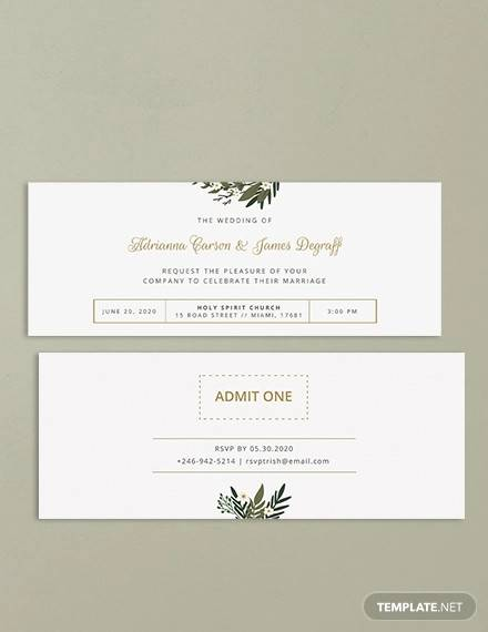 wedding invitation ticket template1