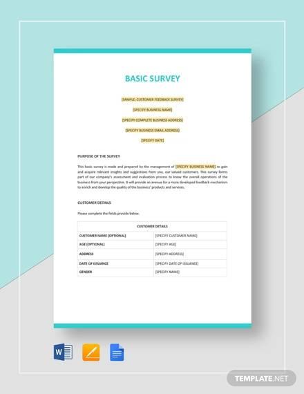 basic survey template