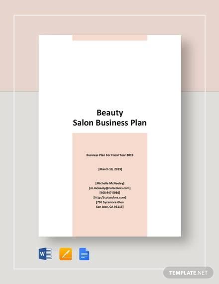 nail and beauty salon business plan