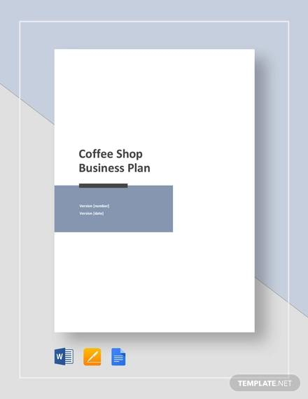 coffee shop business plan template