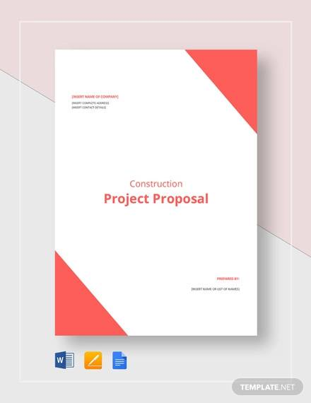 Free 20 Construction Proposal Samples In Pdf Ms World