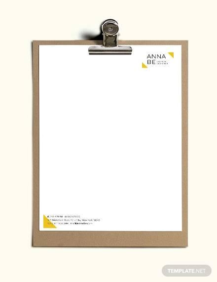 fashion designer letterhead template