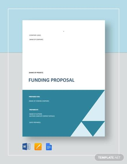 funding project proposal template