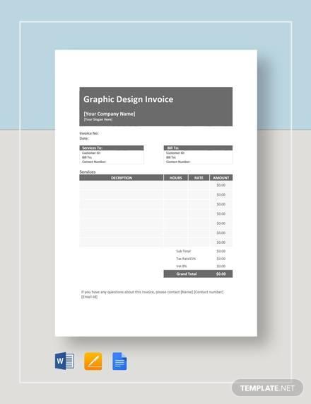 sample graphic descign invoice 7 documents in pdf word. Black Bedroom Furniture Sets. Home Design Ideas