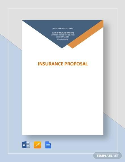 insurance proposal template