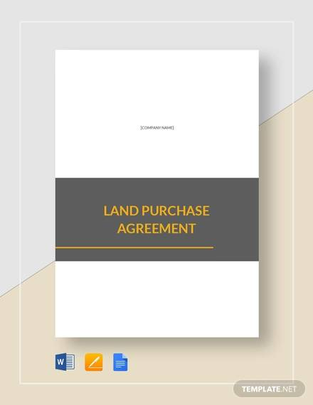 8 Land Purchase Agreement Sample Free Word Pdf Format